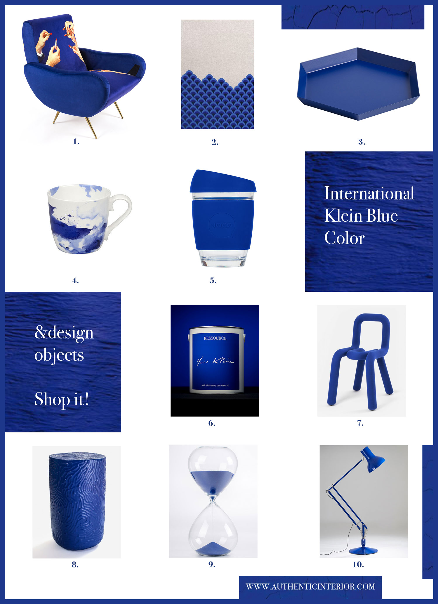 Powerful Yves Klein Blue New Ressource Paint Color And Design Inspiration - Authentic Interior DESIGN STUDIO&BLOG