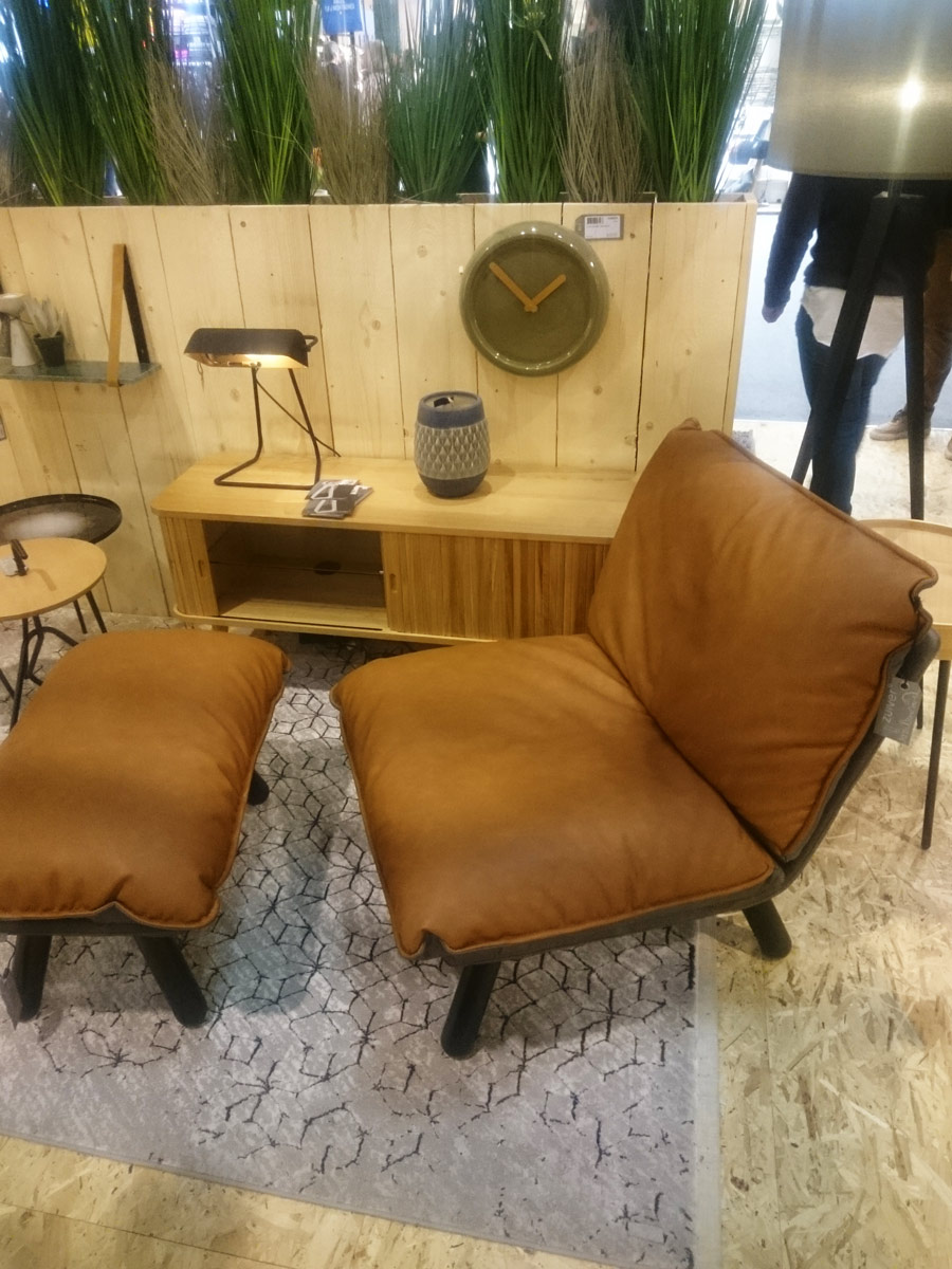 Interior design blog authentic interior leather sofa maison&objet