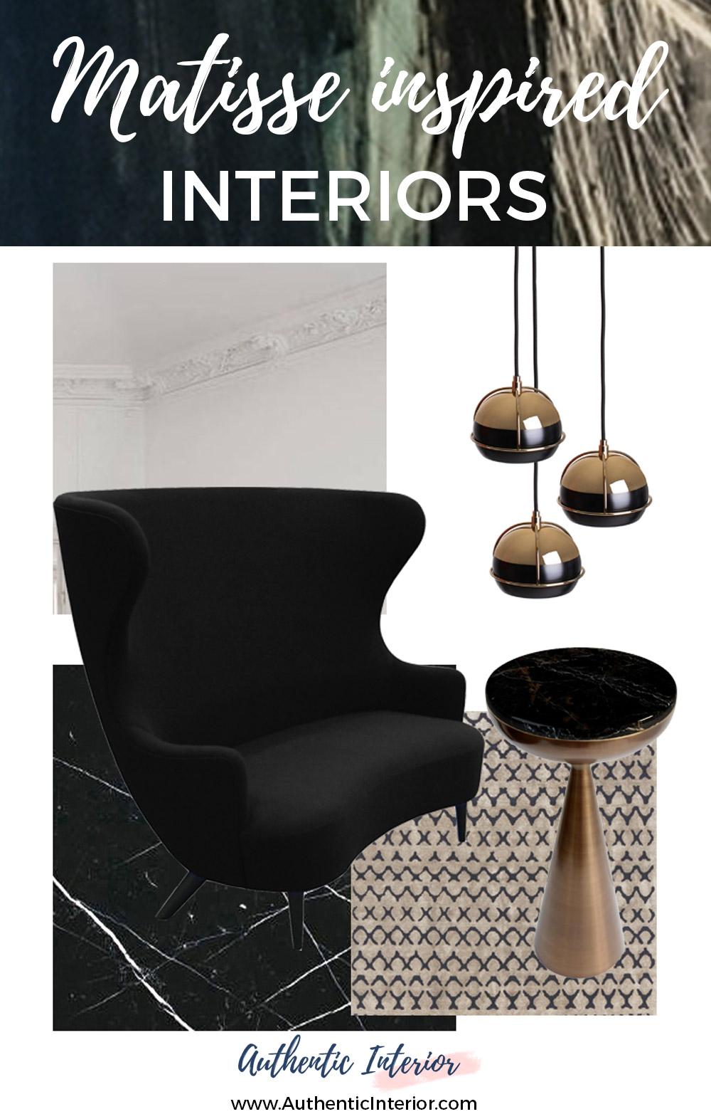Matisse Inspired Interiors Moodboards