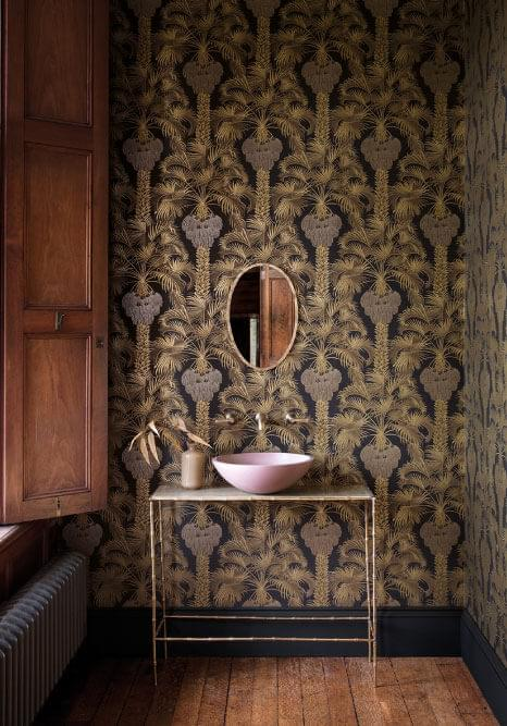 Authentic Interior Design Blog Moroccan Inspired Home New Cole&Son Wallpaper Collection hollywood palm