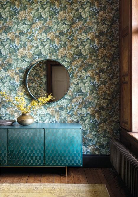 Authentic Interior Design Blog Moroccan Inspired Home New Cole&Son Wallpaper Collection royal fernery