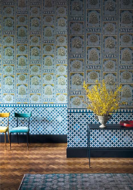 Authentic Interior Design Blog Moroccan Inspired Home New Cole&Son Wallpaper Collection sultans palace hellige