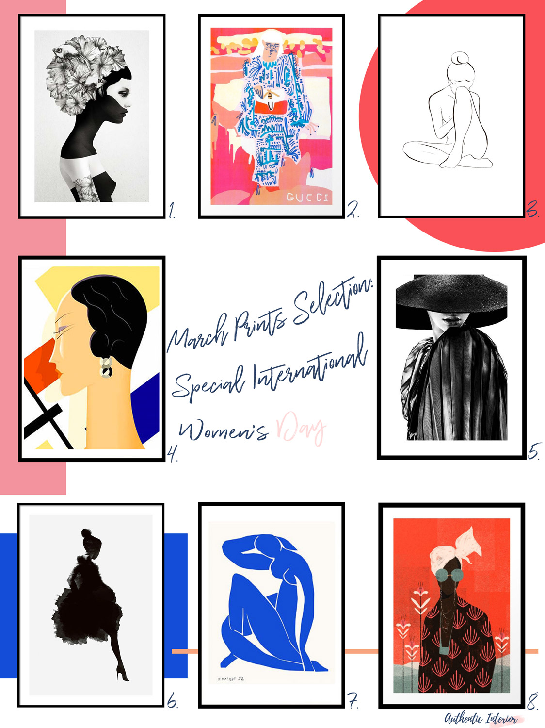 Authentic Interior - Affordable Art Prints Selection Special Women's Day