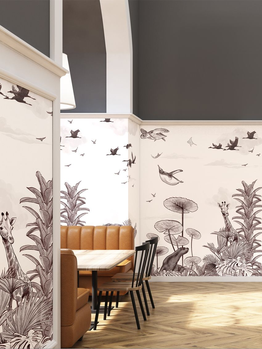 Design Made In France -Exquisite Panoramic Wall Murals For Your Next Interior Renovation papermint 2