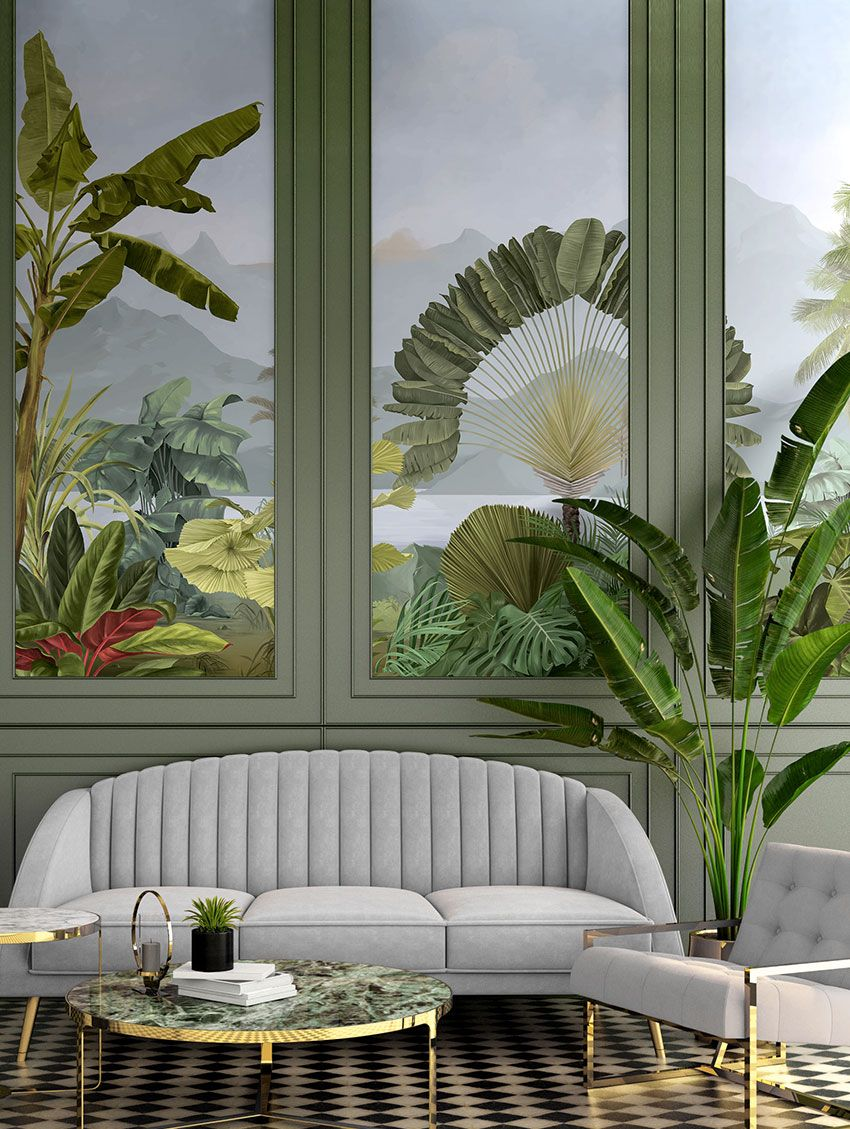 Design Made In France -Exquisite Panoramic Wall Murals For Your Next Interior Renovation papermint 4