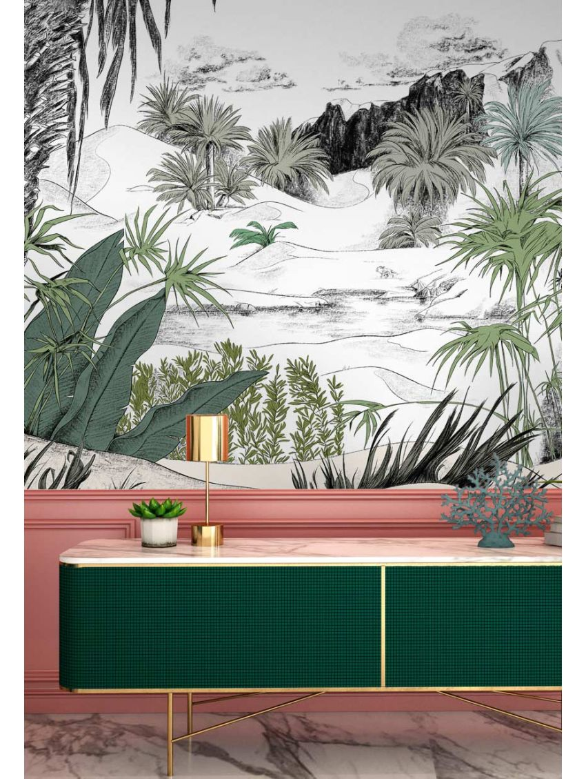Design Made In France -Exquisite Panoramic Wall Murals For Your Next Interior Renovation papermint 7