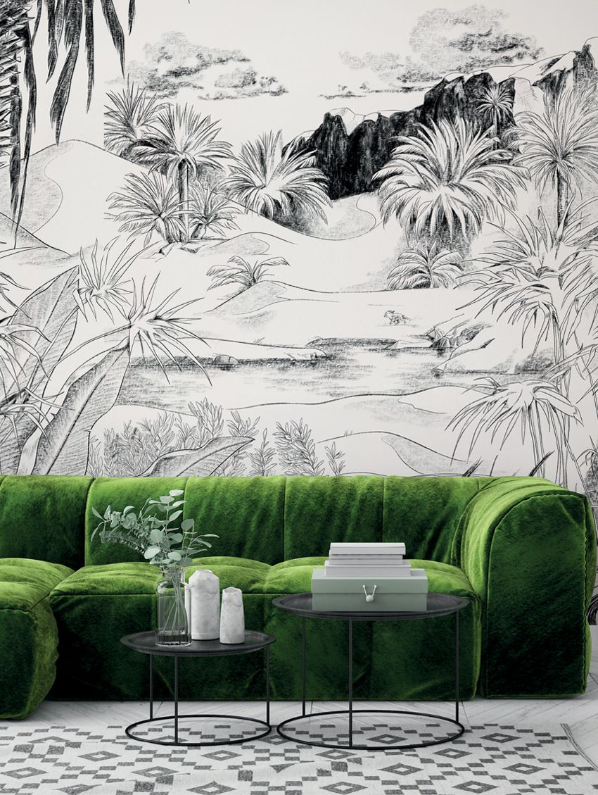 Design Made In France -Exquisite Panoramic Wall Murals For Your Next Interior Renovation papermint 8