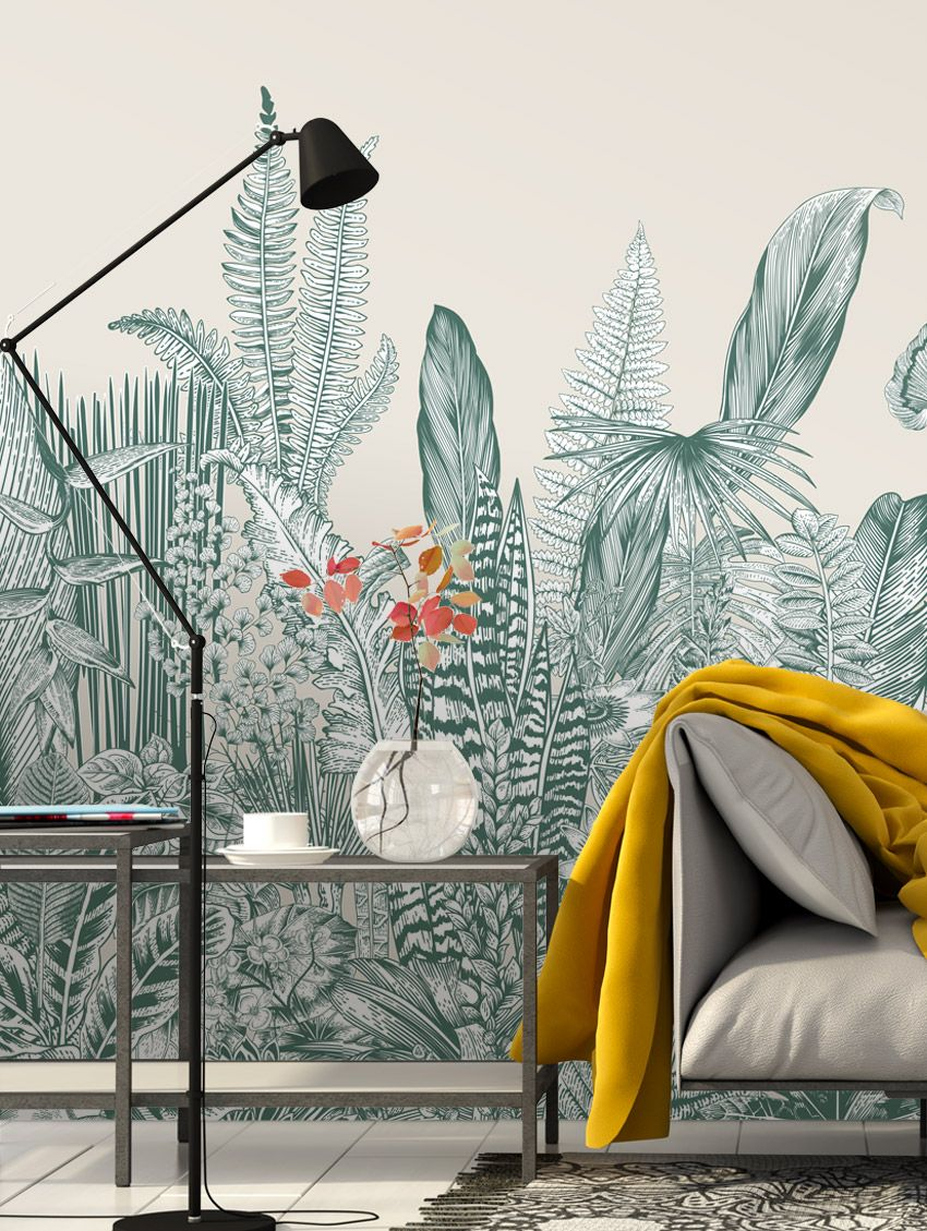 Design Made In France -Exquisite Panoramic Wall Murals For Your Next Interior Renovation papermint 9
