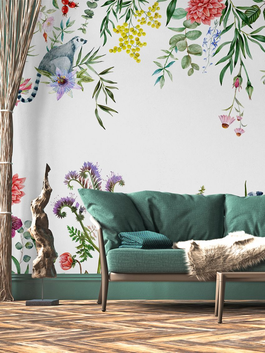 Design Made In France -Exquisite Panoramic Wall Murals For Your Next Interior Renovation papermint
