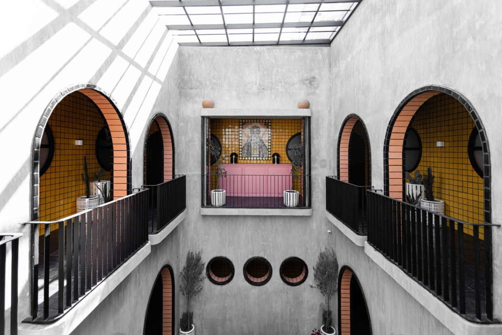 Design Stay - Rich With Mexican Craftsmanship And Colourful Tiles Boutique Hotel Casa Hoyos By A-G Studio